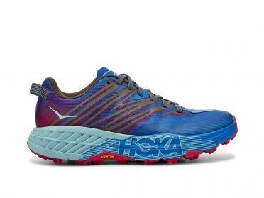 Hoka One One Speedgoat 4 trail hardloopschoenen blauw/paars dames