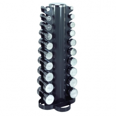 Marcy Dumbell Toren Inclusief Chroom Dumbells 14MASCL200
