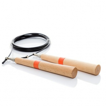 Muscle Power Speed jump rope met houten greep MP1071