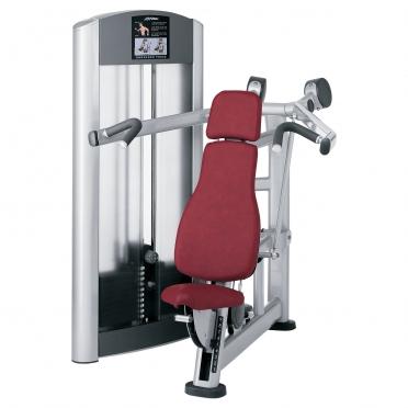 Life Fitness Signature Series Shoulder Press FZSP wit met bruin Gebruikt