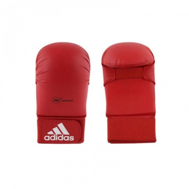 Adidas karate handschoenen WKF rood zonder duim