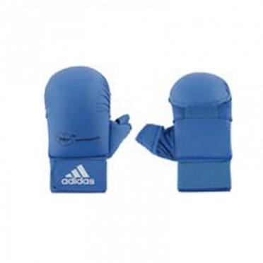 Adidas karate handschoenen WKF blauw met duim