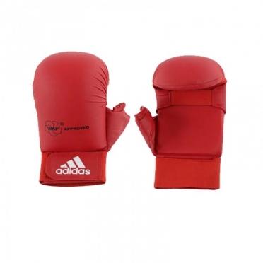 Adidas karate handschoenen WKF rood met duim