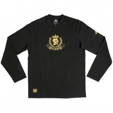 Adidas Sweater/T-shirt Lange Mouw Leisure Zwart/Goud