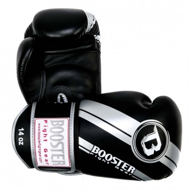 Booster Pro Range BGL V3 leren bokshandschoenen zilver/zwart