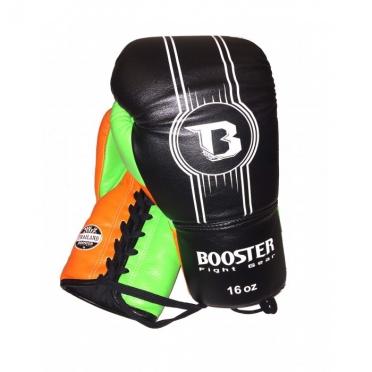 Booster Pro Range BGL V6 leren bokshandschoenen zwart/oranje/groen