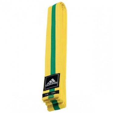 Adidas taekwondo Poomsae band geel/groen