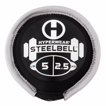 Hyperwear SteelBell 2,5 kg zilver