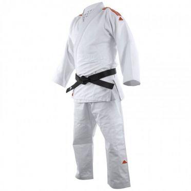 Adidas judopak J650 wit/rood
