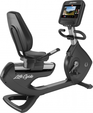 Life Fitness ligfiets Platinum Club Series Discover SE3 Arctic Silver