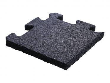 Lifemaxx Puzzelmat 20mm Crossmaxx jigsaw rubber hoek (25 x 25 cm)