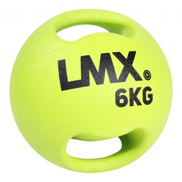 Lifemaxx medicijnbal met dubbel handvat 6 KG LMX 1250.6