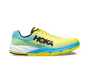 Hoka One One Evo Carbon Rocket hardloopschoenen blauw/geel heren