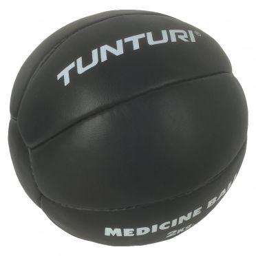 Tunturi Medicine ball Kunstleer 2 kg zwart