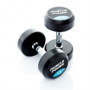 Muscle Power ronde Dumbbellset 12 - 20 KG MP916