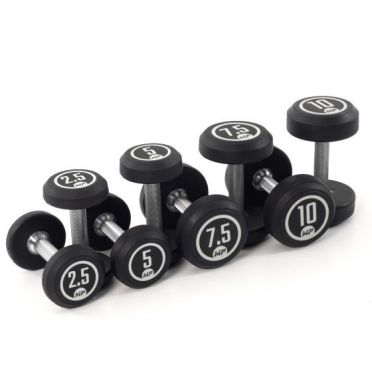 Muscle Power dumbbellset rond rubber 2,5 - 10 kg