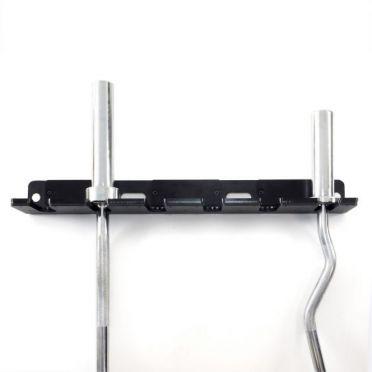 Muscle Power verticale ophangbeugel wandmodel voor 6 olympische Halterstangen