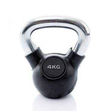 Muscle Power Kettlebell Rubber - Chrome 4 KG MP1301