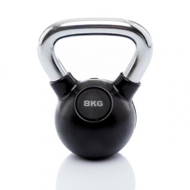 Muscle Power Kettlebell Rubber - Chrome 8 KG MP1301