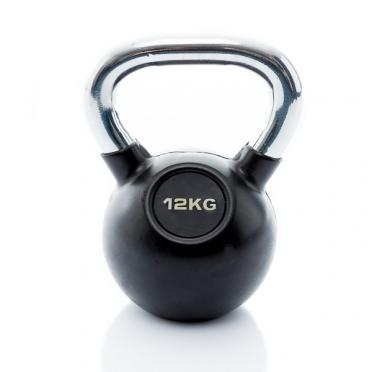 Muscle Power Kettlebell Rubber - Chrome 12 KG MP1301