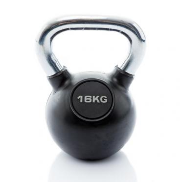Muscle Power Kettlebell Rubber - Chrome 16 KG MP1301