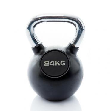 Muscle Power Kettlebell Rubber - Chrome 24 KG MP1301
