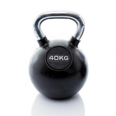 Muscle Power Kettlebell Rubber - Chrome 40 KG MP1301