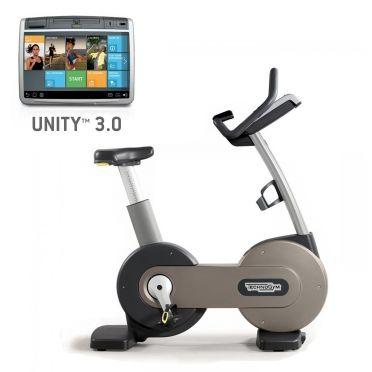TechnoGym hometrainer Excite+ New Bike 700 Unity 3.0 zilver gebruikt