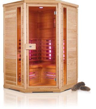 Nobel infrarood saunacabine hoek 130C hoekmodel