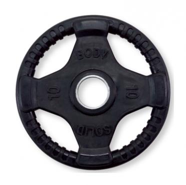 Body-Solid Olympische halterschijf rubber 10 kg
