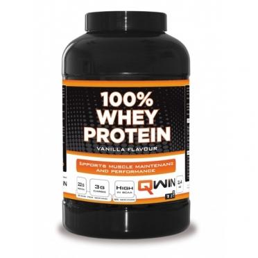 QWIN 100% Whey Protein Aardbei 2400 gram