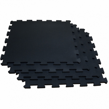 Body-Solid Puzzelmat set 100 x 100 cm solid black