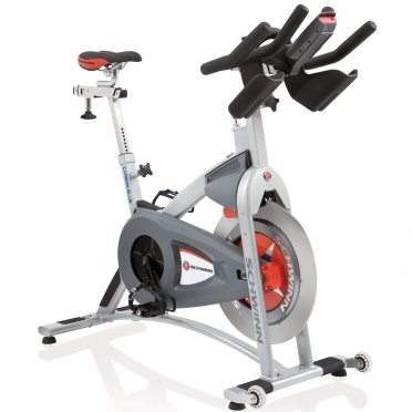 Schwinn AC Performance Plus Carbon Blue met Mpower Echelon Console