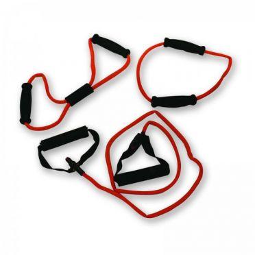 Tunturi Tubing set met handgrepen zwaar rood