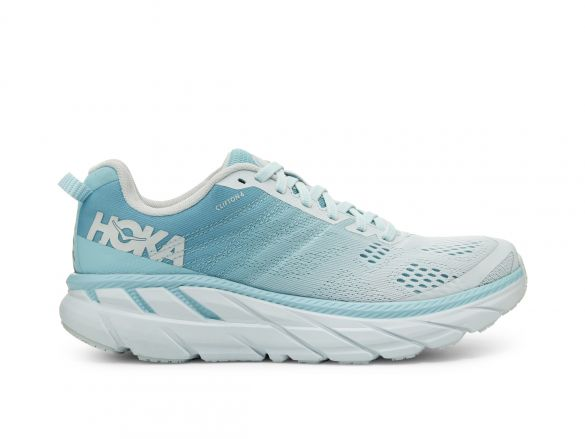 Hoka One One Clifton 6 wide hardloopschoenen blauw/grijs dames  1102877-ASWB