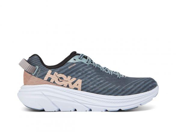 Hoka One One Rincon hardloopschoenen grijs/roze dames  1102875-LPSN