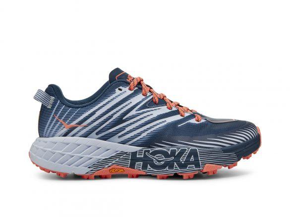 Hoka One One Speedgoat 4 trail hardloopschoenen blauw/grijs dames  1106527-MBHH