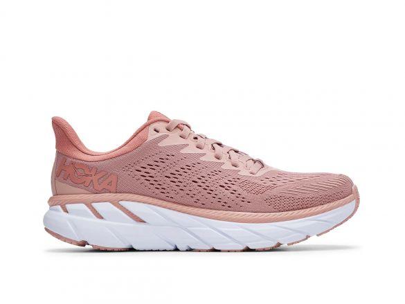 Hoka One One Clifton 7 hardloopschoenen roze dames  1110509-MRCB