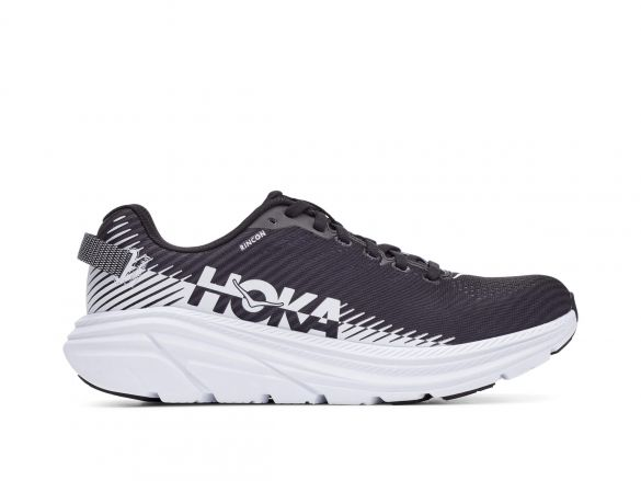 Hoka One One Rincon 2 hardloopschoenen zwart/wit dames  1110515-BWHT