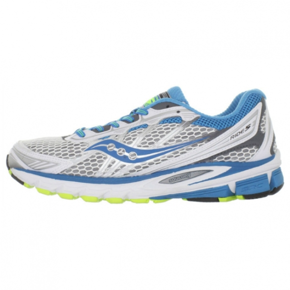 Saucony hardloopschoenen Progrid Ride 5 White-Teal-Grey  SAUPRGR5WTG