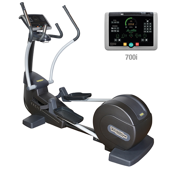 TechnoGym crosstrainer Synchro Excite+ 700i zwart gebruikt  BBTGSE700IZW