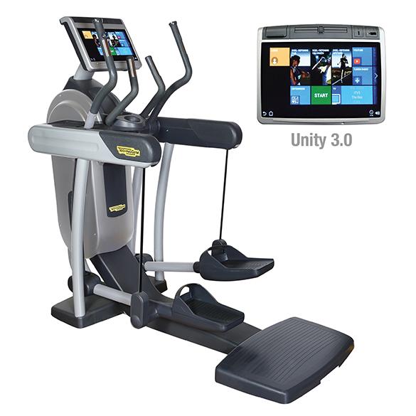TechnoGym crosstrainer Excite+ Vario 700 Unity 3.0 zilver gebruikt  BBTGEV700U3ZI