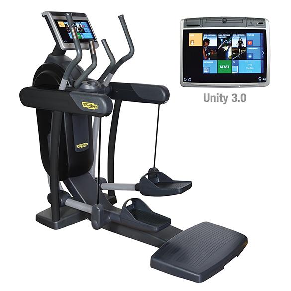 TechnoGym crosstrainer Excite+ Vario 700 Unity 3.0 zwart gebruikt  BBTGEV700U3ZW