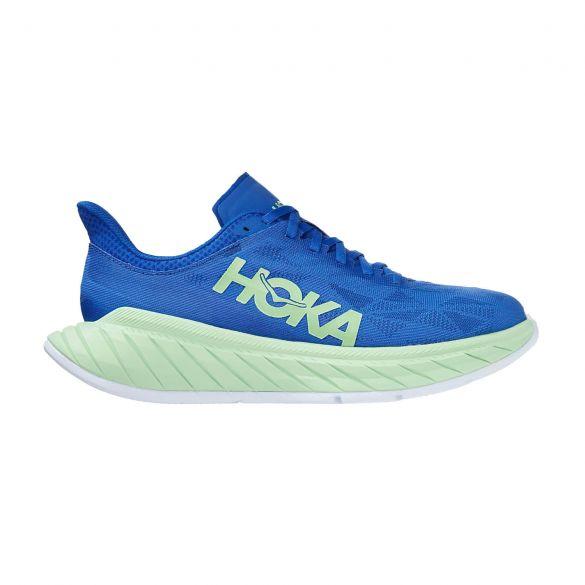 Hoka One One Carbon X 2 hardloopschoenen blauw/groen heren  1113526-DBGA