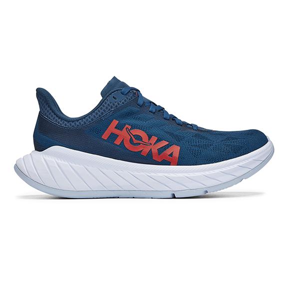 Hoka One One Carbon X 2 hardloopschoenen donkerblauw dames  1113527-MBCHR