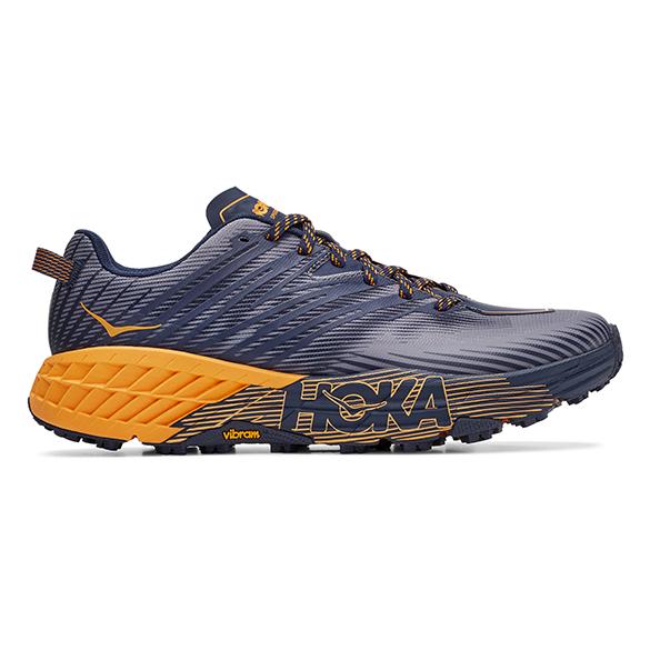 Hoka One One Speedgoat 4 trail hardloopschoenen blauw/oranje heren  1106525-BIBM