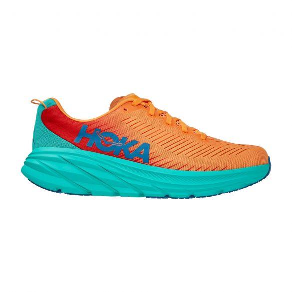 Hoka One One Rincon 3 hardloopschoenen blauw/oranje heren  1119395-BOFT