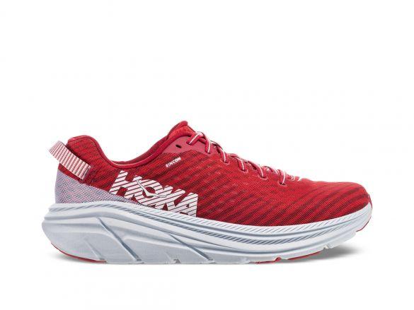 Hoka One One Rincon hardloopschoenen rood/wit heren  1102874-BCPA