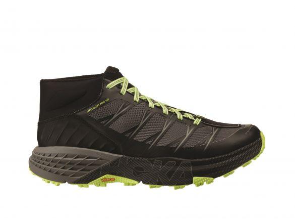 Hoka One One Speedgoat Mid WP trail hardloopschoenen zwart/geel heren  1093760-BSLG