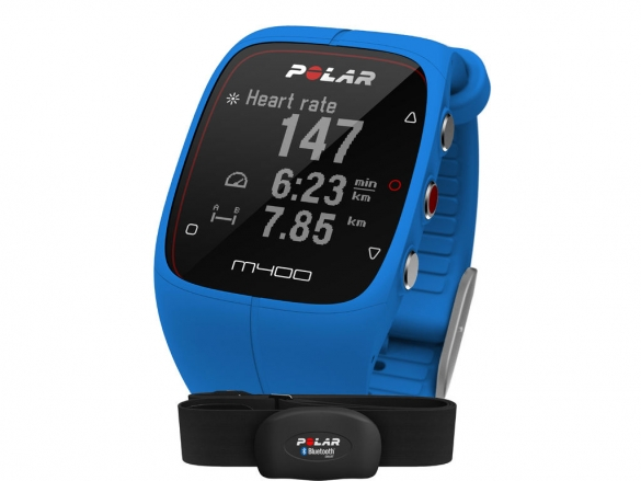 Polar M400 HRM sporthorloge met GPS blauw  90057189